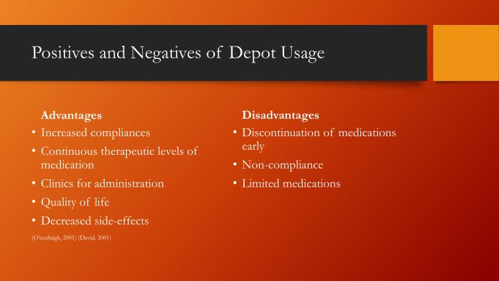 Positives and Negatives of Depot Usage