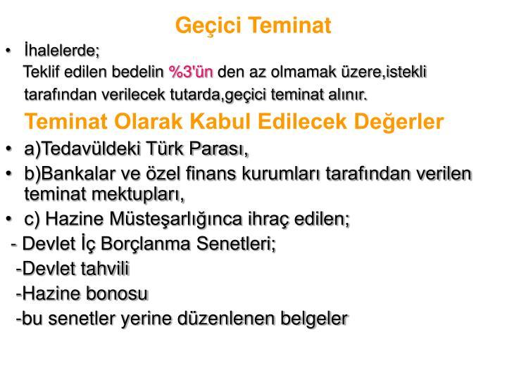 Geçici Teminat