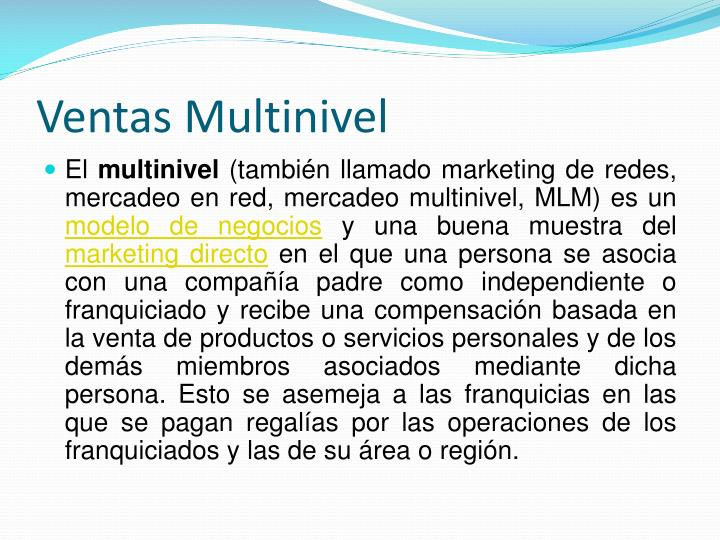 Ventas Multinivel