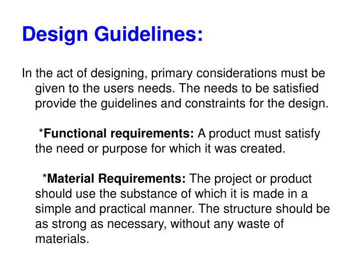 Design Guidelines: