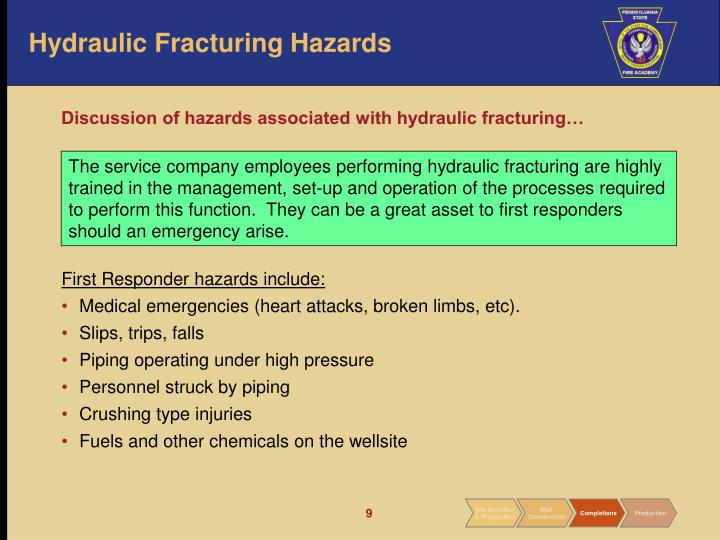Hydraulic Fracturing Hazards