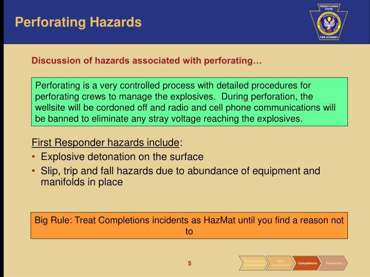 Perforating Hazards