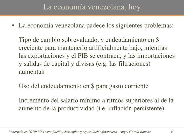 La economía venezolana, hoy