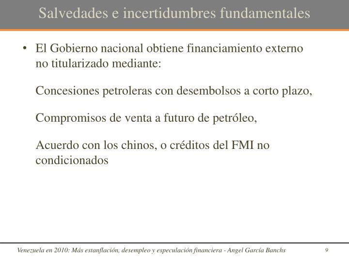 Salvedades e incertidumbres fundamentales