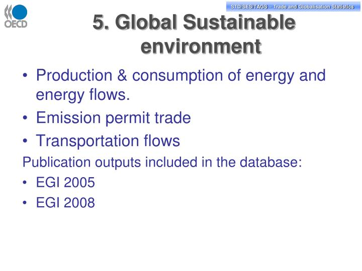 5. Global Sustainable environment
