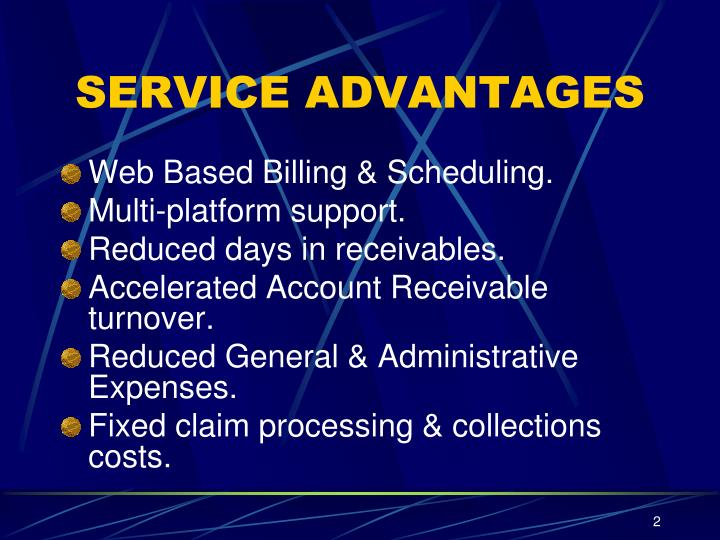 SERVICE ADVANTAGES
