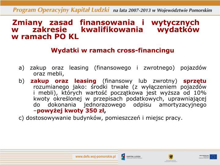 Wydatki w ramach cross-financingu