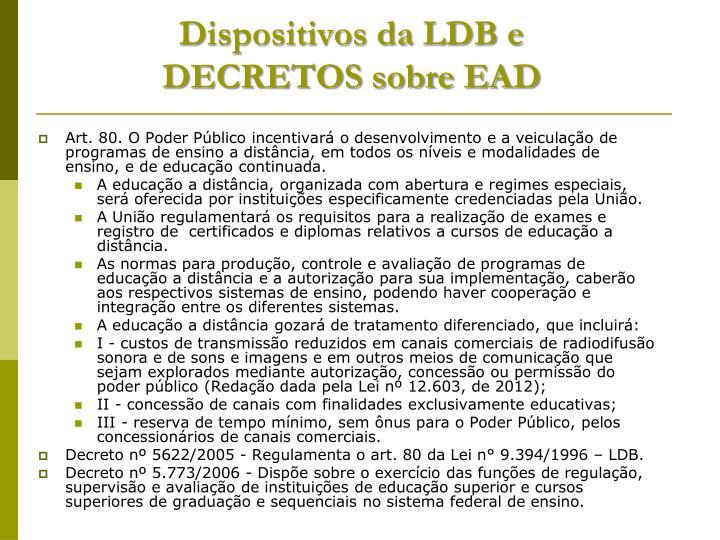 Dispositivos da LDB e