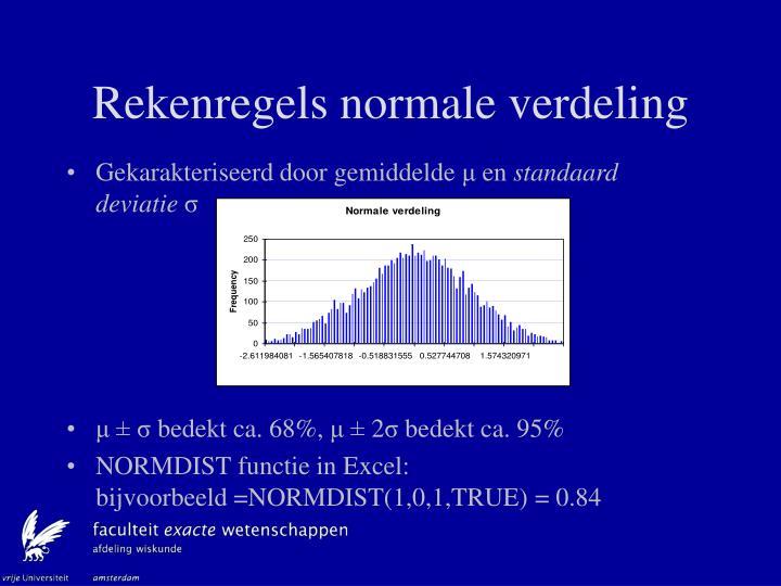 Rekenregels normale verdeling