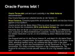 oracle forms lebt