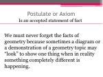 postulate or axiom