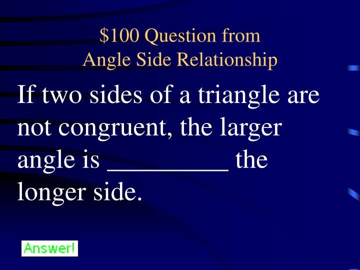 100 question from angle side relationship