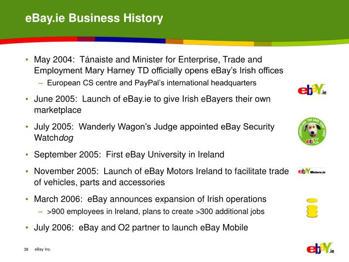 eBay.ie Business History