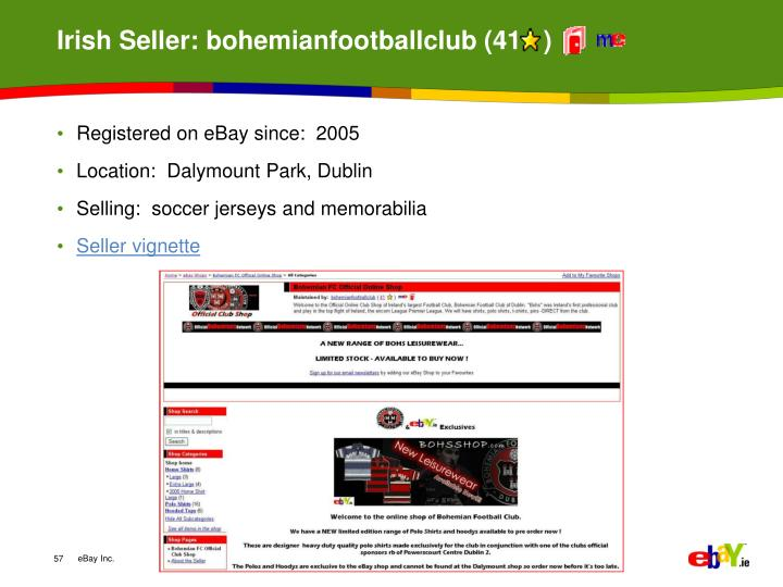 Irish Seller: bohemianfootballclub (41   )