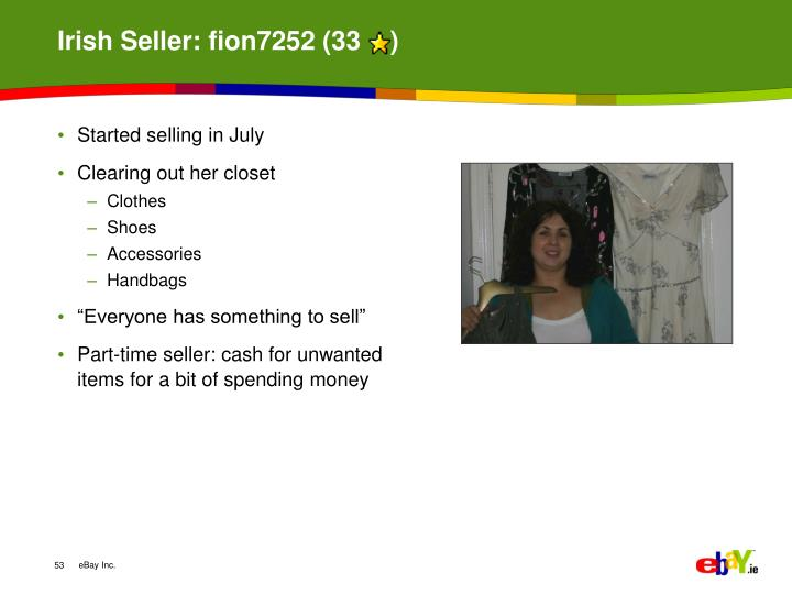 Irish Seller: fion7252 (33    )