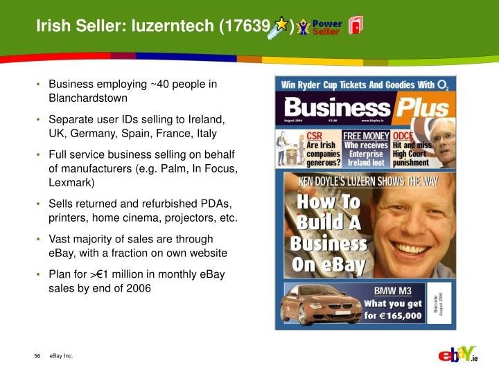 Irish Seller: luzerntech (17639    )