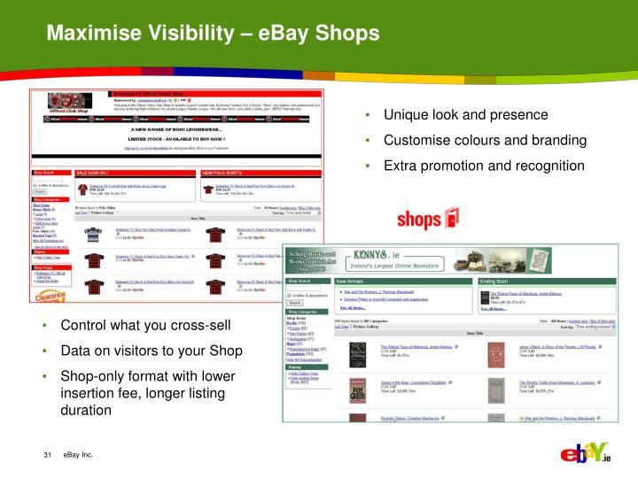 Maximise Visibility – eBay Shops