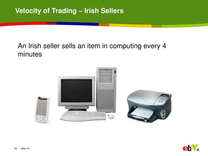 Velocity of Trading – Irish Sellers