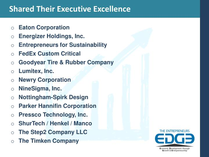 Shared Their Executive Excellence