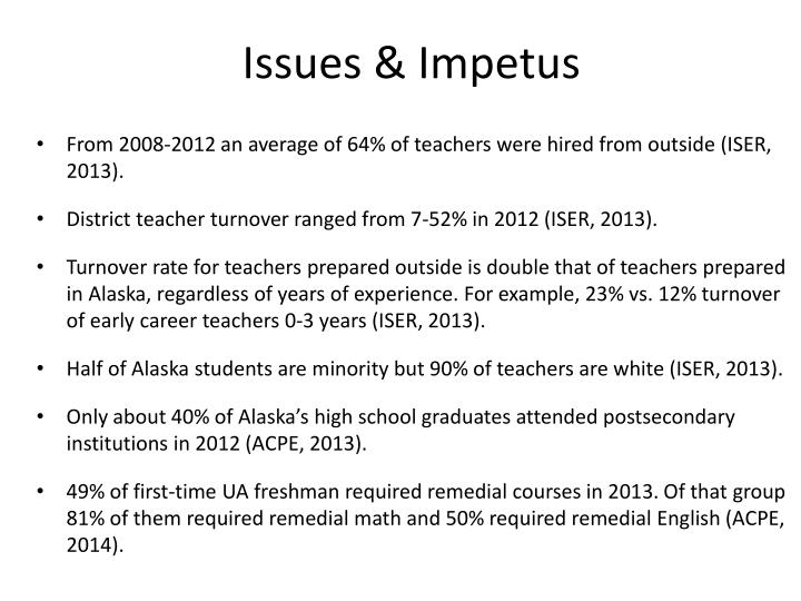 Issues & Impetus