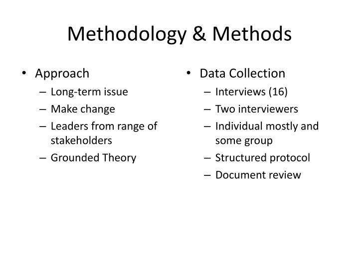 Methodology & Methods