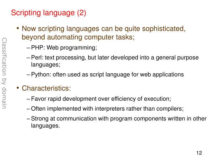 Scripting language (2)