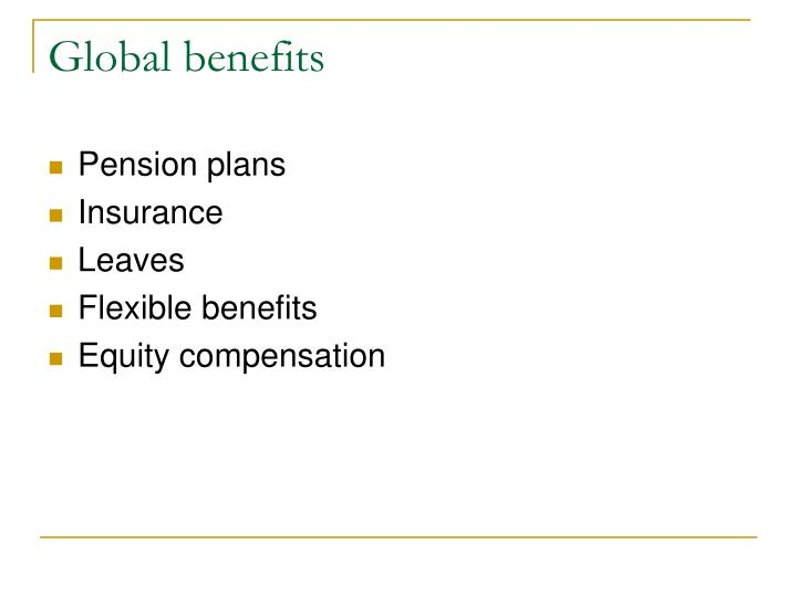 challenges in international benefits and compensation These costs cut into the bottom line of any business the trick is to figure out how much, how many, or how often benefits should be offered, without sacrificing employee motivation a company can cut costs by not offering benefits or 401(k) plans, but if its goal is to hire the best people, a hiring package without these items.