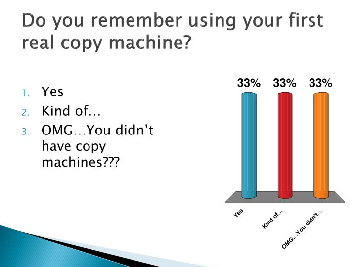 Do you remember using your first real copy machine?