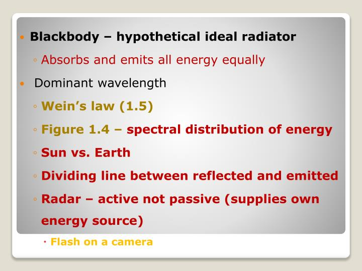 Blackbody – hypothetical ideal radiator