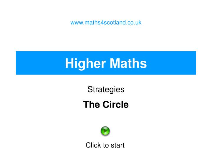 Www.maths4scotland.co.uk