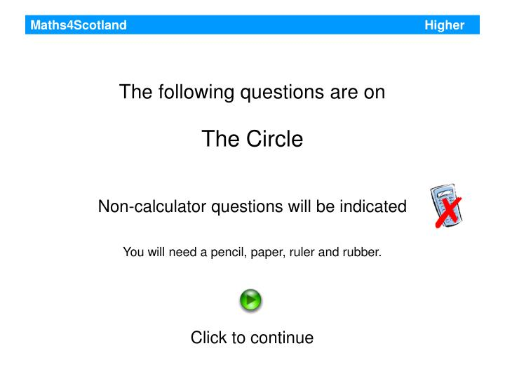 Maths4Scotland                                                                                     Higher