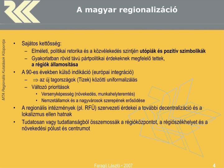 A magyar regionalizáció