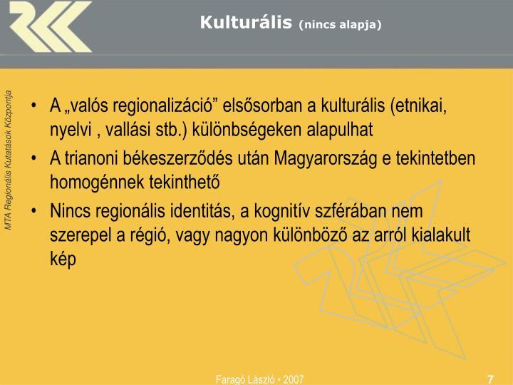 Kulturális