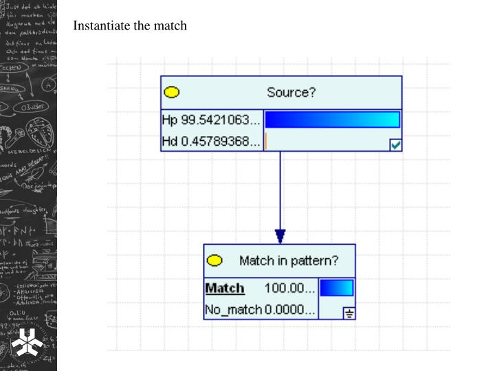 Instantiate the match