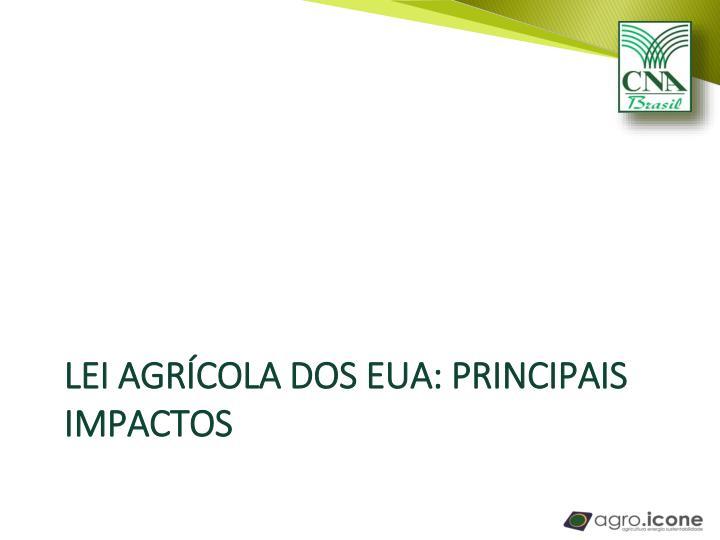 Lei agrícola dos