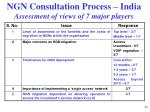 ngn consultation process india assessment of views of 7 major players