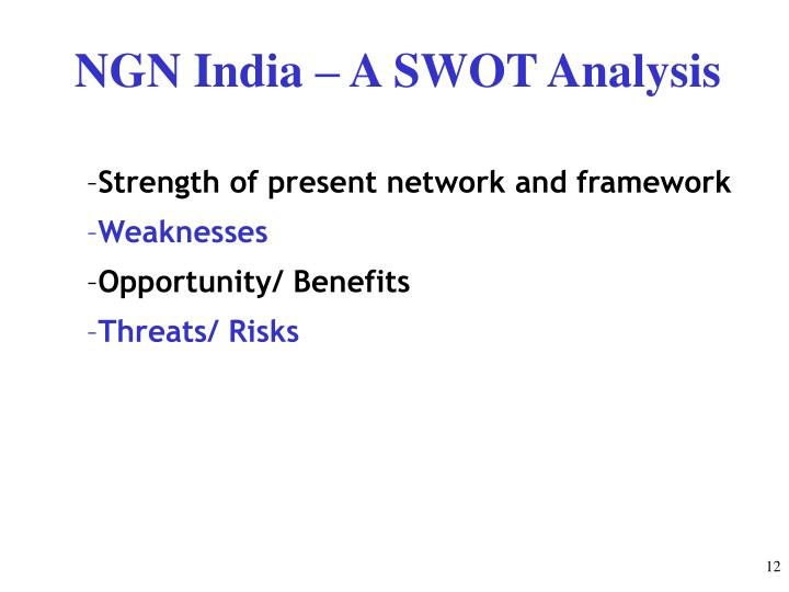 NGN India – A SWOT Analysis