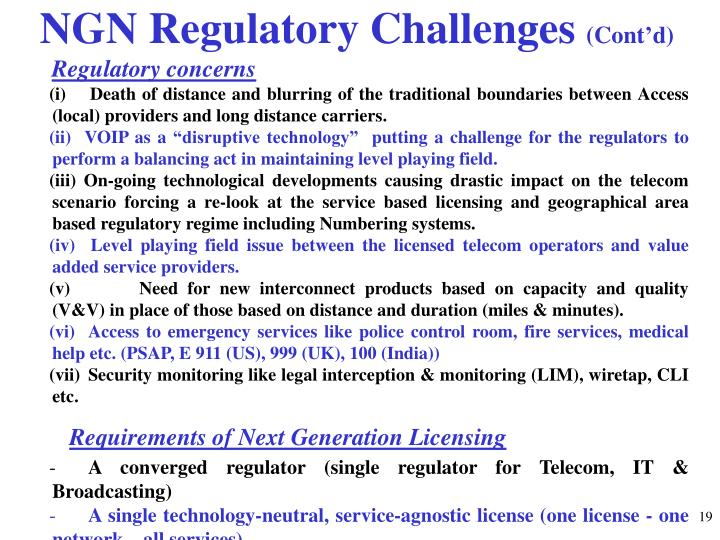NGN Regulatory Challenges