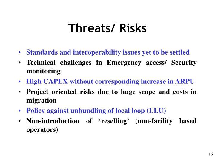 Threats/ Risks