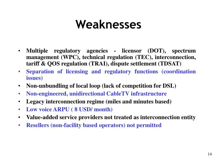 Weaknesses