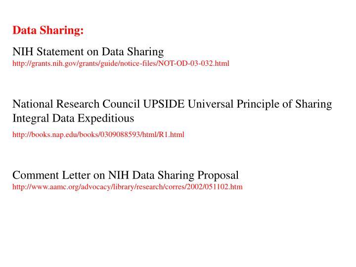 Data Sharing: