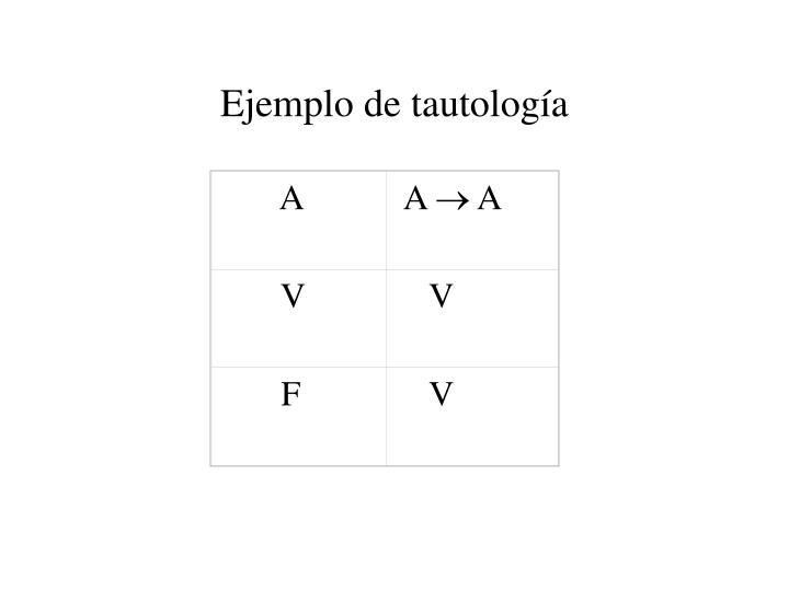 Ejemplo de tautología
