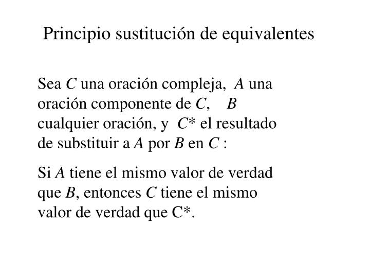 Principio sustitución de equivalentes