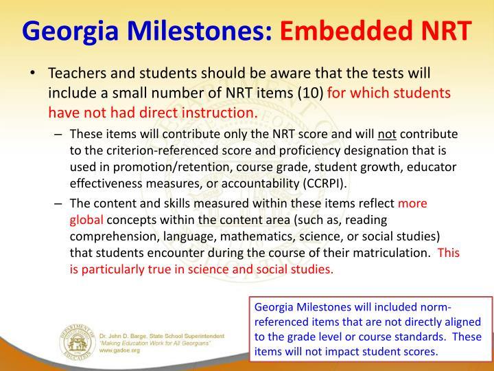 Georgia Milestones: