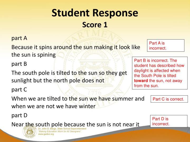 Student Response