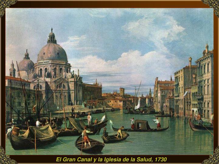 El Gran Canal y la Iglesia de la Salud, 1730