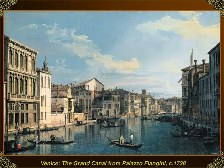 Venice: The Grand Canal from Palazzo Flangini, c.1738