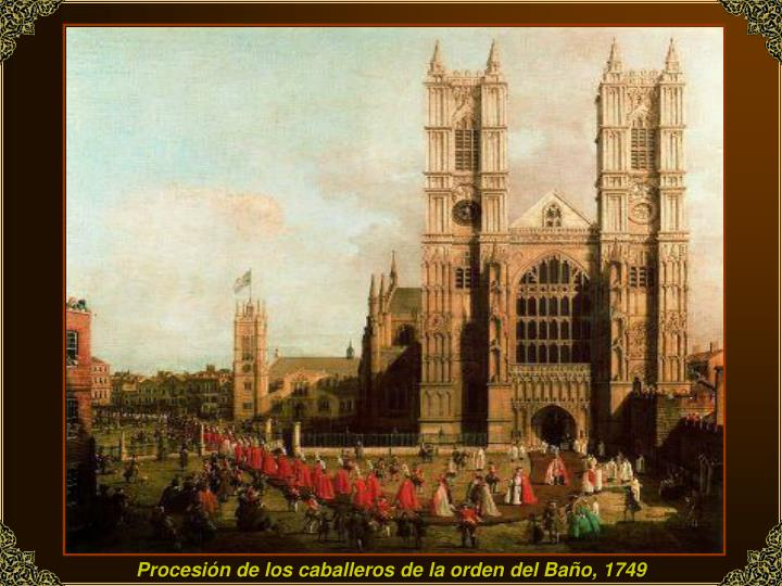 Procesión de los caballeros de la orden del Baño, 1749