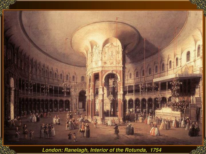 London: Ranelagh, Interior of the Rotunda,  1754