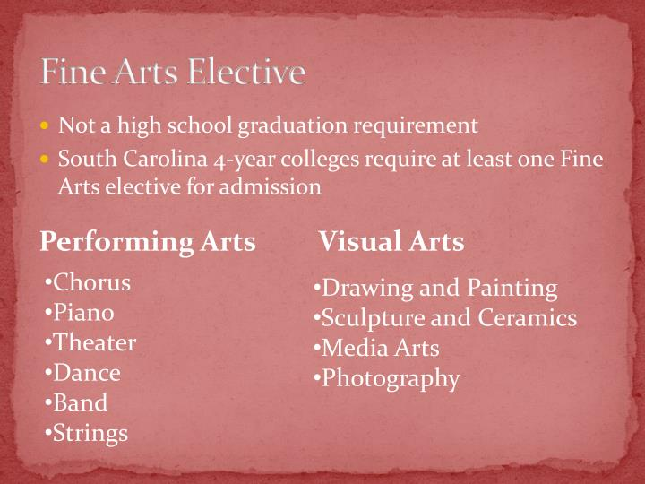 Fine Arts Elective